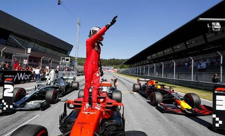 Qualifiche Gp d'Austria: Leclerc in Pole, Vettel decimo per un problema tecnico