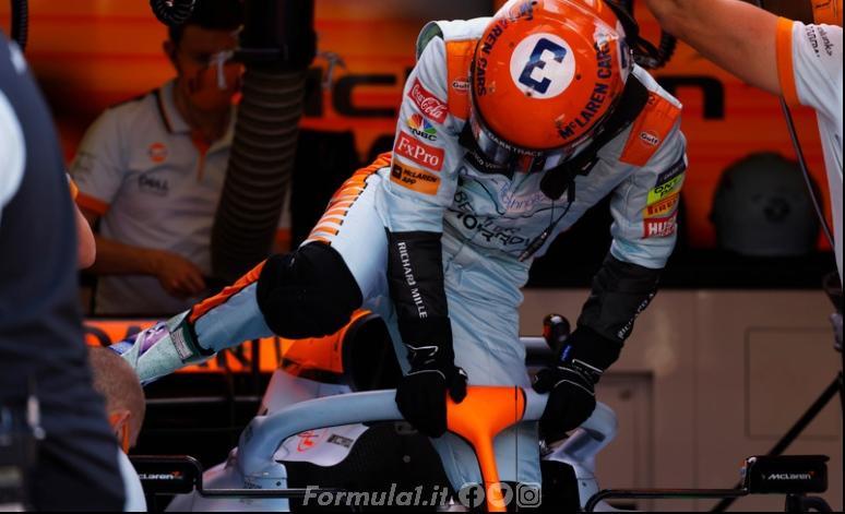Ricciardo incredulo del ritardo dal compagno Norris