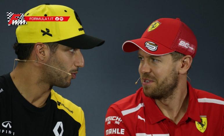 Ricciardo vuole il casco di Vettel