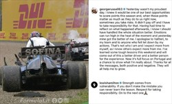 Russell si scusa con Bottas per l'incidente a Imola