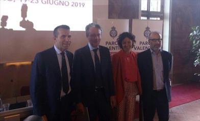 Da sinistra a destra Andrea Levy, Alberto Sacco, Paola Pisano, Juan Carlos de Martin