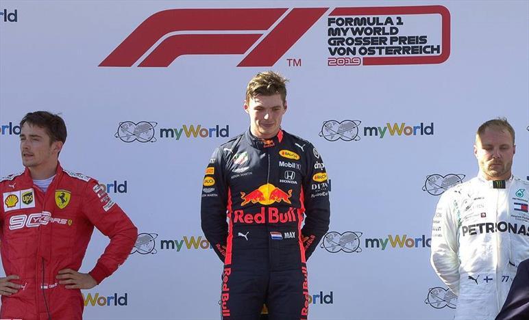 Super Max vince in Austria. Charles secondo, Vettel quarto, Hamilton quinto
