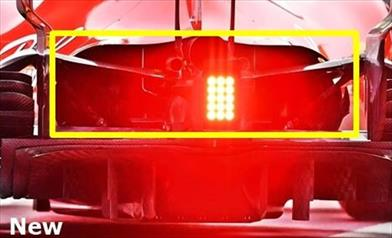 TEST BARCELLONA 2: la FERRARI apre il cofano motore