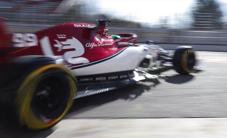 TEST F1 - Day 5: Giovinazzi fa volare la Alfa Romeo Sauber...