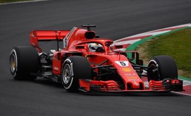 Test F1, Ferrari davanti, Vettel il più veloce