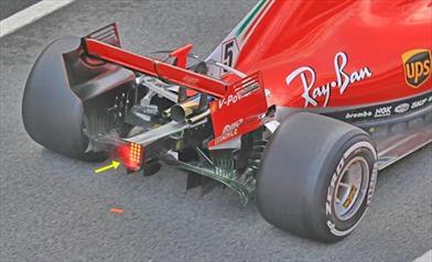 TEST F1 - GIORNO 3: ecco dove sfoga lo sfiato del basamento sulla Power Unit Ferrari 2018