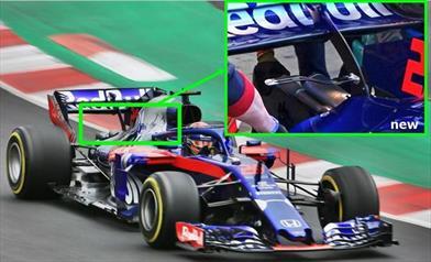 TEST F1 - GIORNO 6: TORO ROSSO STR13 con la Deck Wing al posteriore
