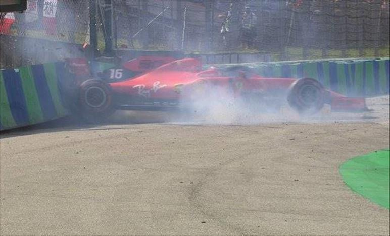 Ungheria: Leclerc contro le barriere in Q1, poi si qualifica quarto davanti a Vettel