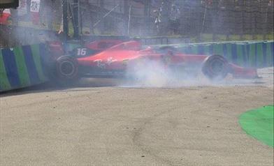 Ungheria: Leclerc contro le barriere in Q1, poi si qualifica quarto davanti a Vettel - Ungheria: Leclerc contro le barriere in Q1, poi si qualifica quarto davanti a Vettel