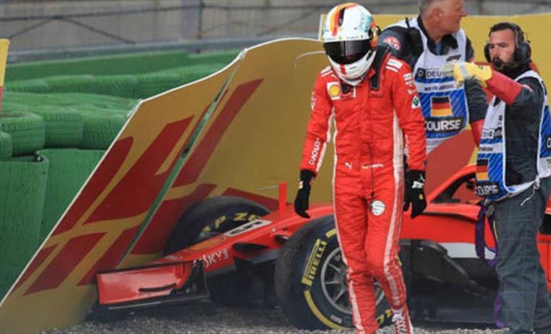 Vettel, arrabbiato e deluso per l'incidente, è stata colpa mia