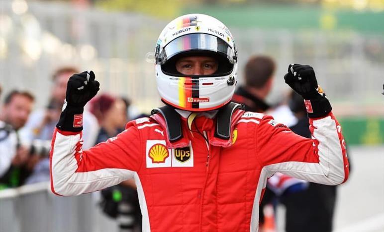 Vettel straordinario, la Ferrari è irresistibile